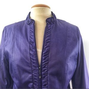 TanJay luxurious Ruffle down/blazer/jacket Sz 8